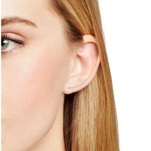 Adina Reyter white gold diamond ear cuff
